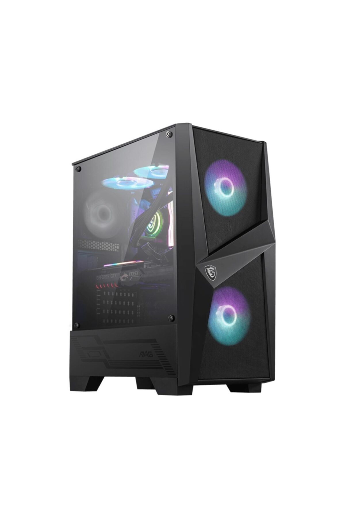 MSI Mag Forge 100r Temperli Cam 2x A-rgb Fan ,1x 120mm Fan Atx Gaming Kasa 2