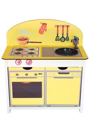Kidea Ahşap Çocuk Mutfak Seti Sarı