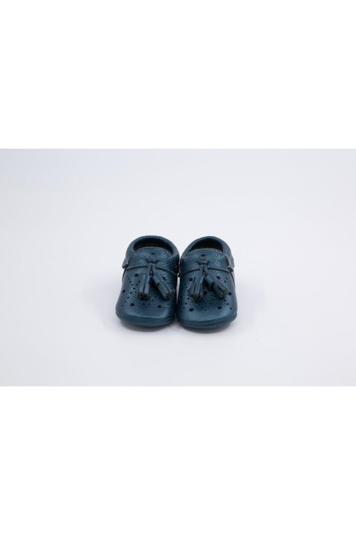 Li Puna Bebek Mavi Royal Serisi Hakiki Deri İlk Adım Ayakkabısı 2