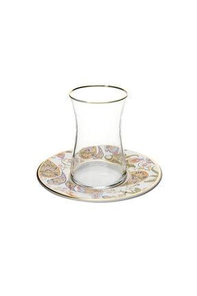 Karaca Şal Desen 6 Kişilik Çay Seti