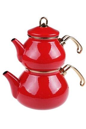 Taşev Beyzade - Çaydanlık Takımı Kırmızı