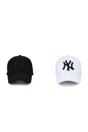 İdeal Ideal Ny New York 2'li Unisex Set Şapka [siyah-beyaz]