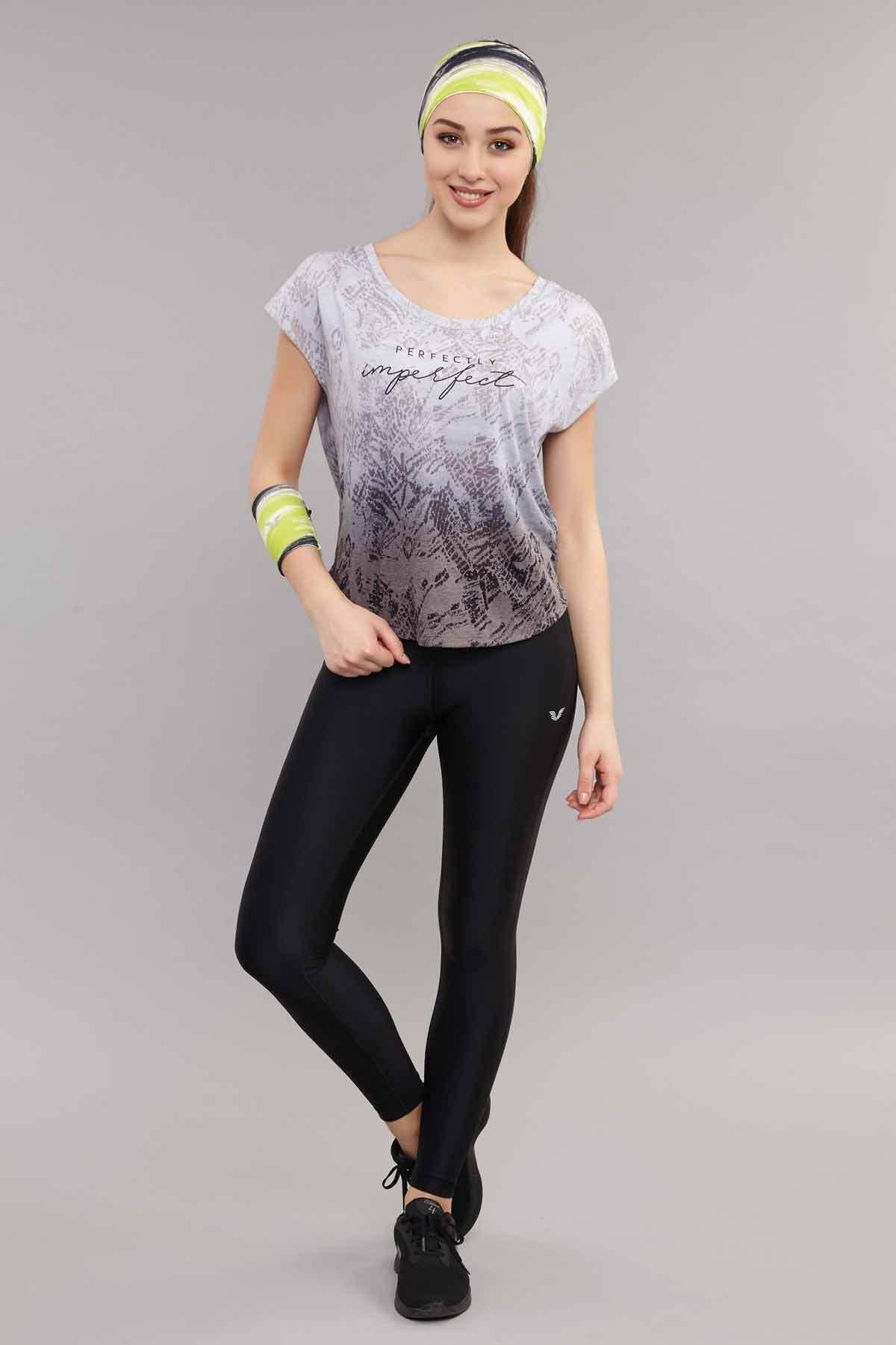 bilcee Siyah Pamuk/Poly  Kadın T-Shirt ES-3572 2