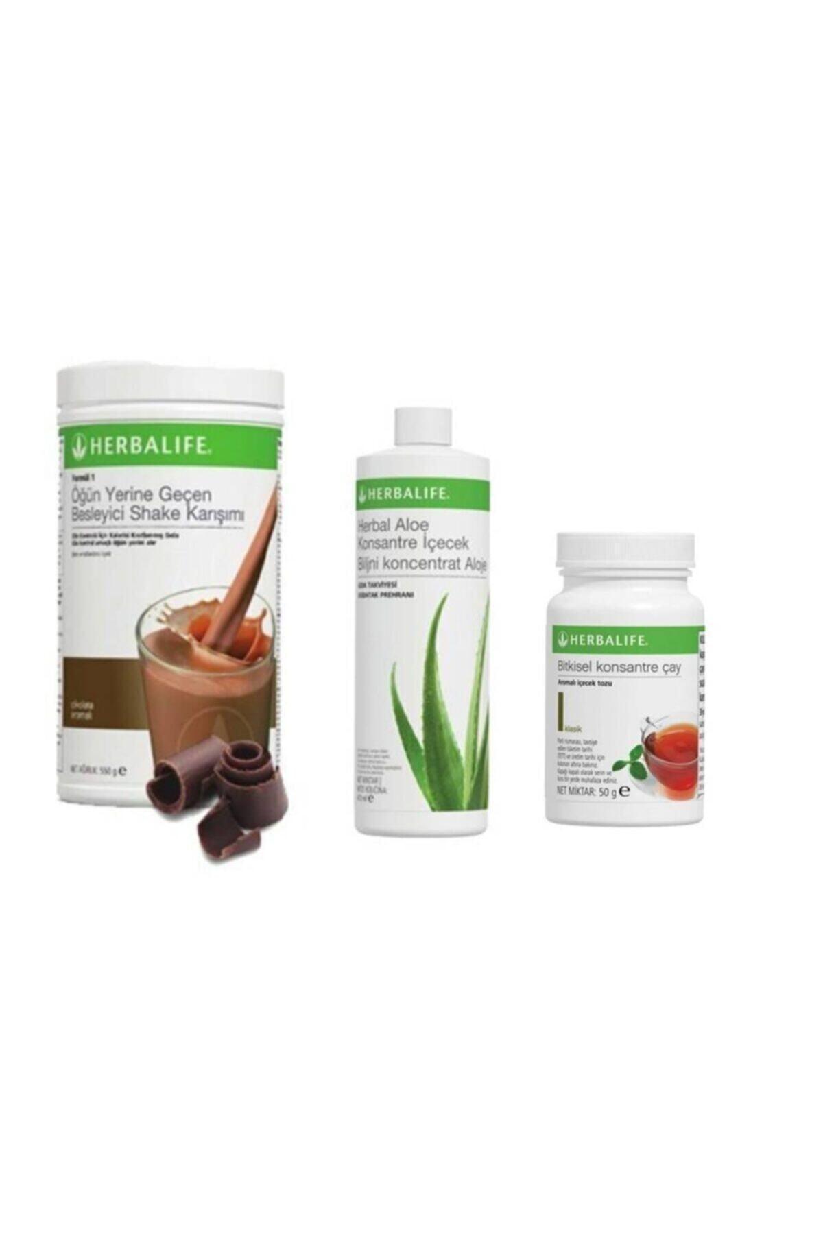Herbalife Ekonomik Set ( Shake Çikolata 550 Gr. - Aloe 473 Ml.. - Limon Çay 50 Gr. ) 1