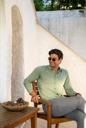 Silk and Cashmere Ipek Karışımlı Quentin Erkek Gömlek