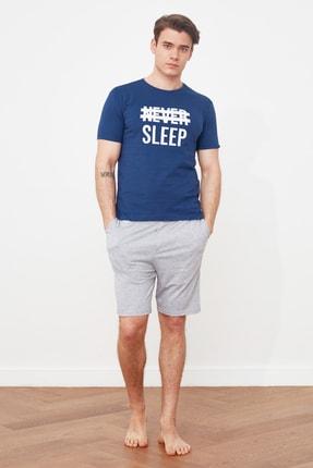 TRENDYOL MAN Mavi Örme Pijama Takımı THMSS21PT0216