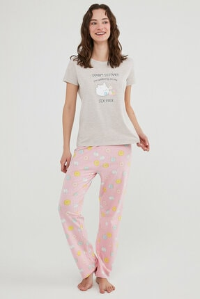 Penti Çok Renkli  Pantolon Pijama Takımı