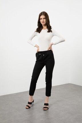 Arma Life Kadın Siyah Duble Kumaş Beli Lastikli Pantolon