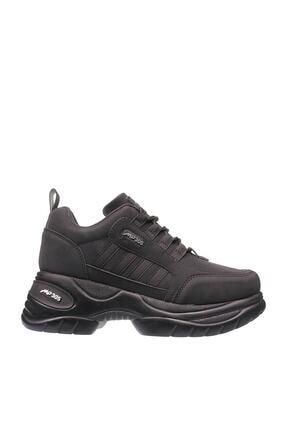 MP Kadın  Siyah  Platform Taban Yürüyüş Ve Spor Ayakkabısı