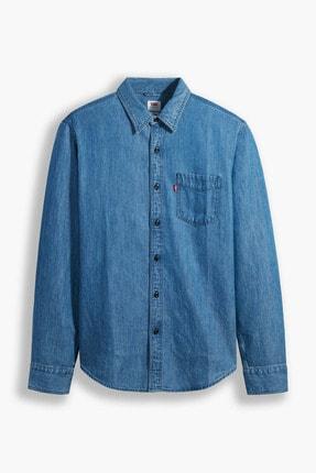 Levi's Sunset 1 Pkt Slim Cotton Tencel Mid Orta Indigo Erkek Gömlek