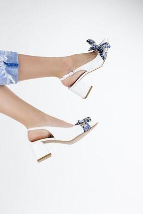 Gökhan Talay Fiyonk Detaylı Kadın Topuklu Ayakkabı