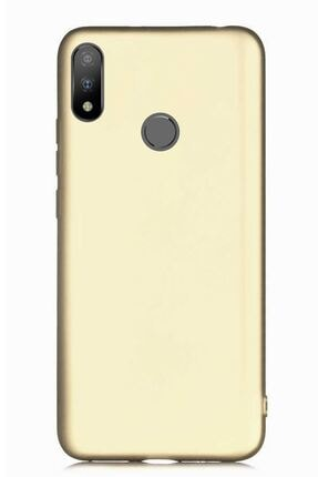 Casper Via A3 Plus Uyumlu Kılıf Premier Renkli Esnek Silikon Gold