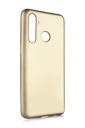 Oppo Realme 5 Pro Uyumlu Kılıf Premier Renkli Esnek Silikon Gold