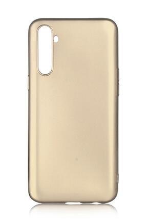 Oppo Realme 6 Uyumlu Kılıf Premier Renkli Esnek Silikon Gold