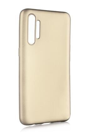 Oppo Realme Xt Uyumlu Kılıf Premier Renkli Esnek Silikon Gold