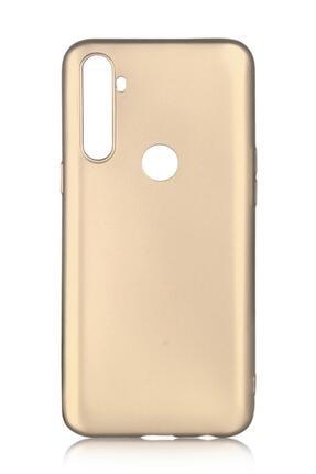 Oppo Realme C3 Uyumlu Kılıf Premier Renkli Esnek Silikon Gold