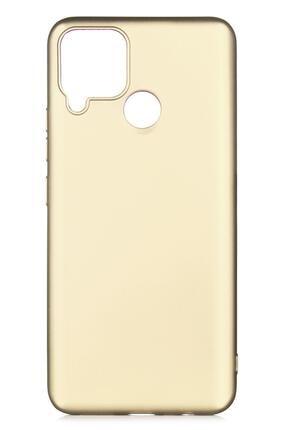 Oppo Realme C25 Uyumlu Kılıf Premier Renkli Esnek Silikon Gold