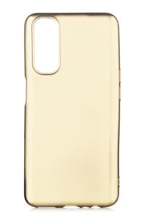Oppo Realme 7 Uyumlu Kılıf Premier Renkli Esnek Silikon Gold