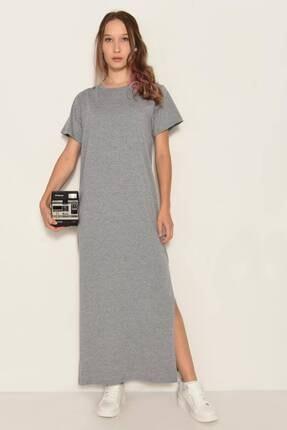 Addax Yırtmaçlı Uzun Elbise E0729 - Dk12