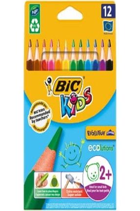 Bic Kuru Boya Kids Evolution Triangle Üçgen Jumbo Boya Kalemi 12 Renk