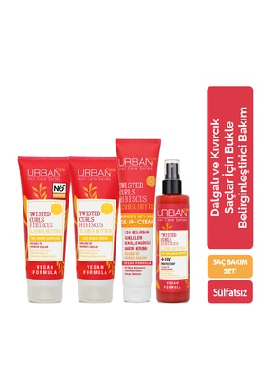 Urban Care Hibiscus &Shea Butter Tüm Aile Şampuan&Krem&Sıvı Krem&Durulanmayan Bakım Set
