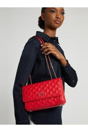 Guess Cessıly Kırmızı Kadın Çapraz Çanta