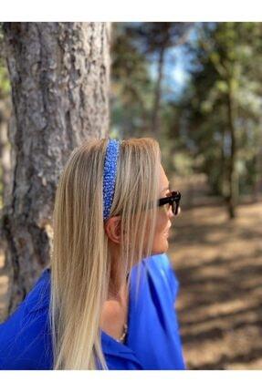 LavinbyNurten El Yapımı Açık Mavi Kristal Taşlı Kadın Saç Tacı Aksesuarı