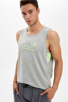 DeFacto Sporcu Neon Detaylı Kolsuz Tişört