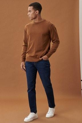 AC&Co / Altınyıldız Classics Erkek Koyu Lacivert Slim Fit Dar Kesim Denim Esnek Jean Kot Pantolon