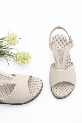 Marjin Kadın Hakiki Deri Dolgu Topuk Sandalet Alisbej