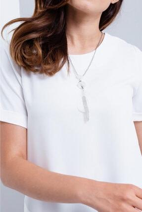 Lafaba Kadın Beyaz Zincir Kolye