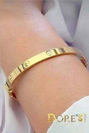 Dores Gold Altın Taşsız Cartier Kelepçe Bilezik