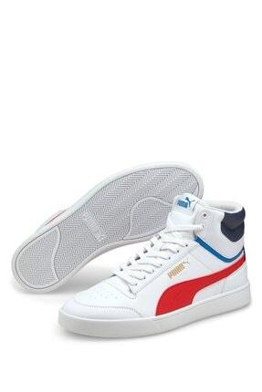 Puma Shuffle Mıd Whı Beyaz Erkek Basketbol Ayakkabısı