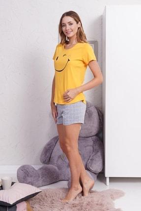 Kompedan Kadın Şort Takım Sarı 0111520253