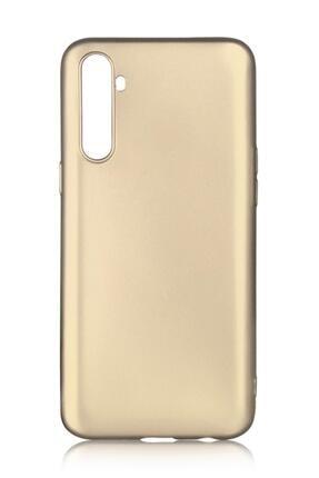 Oppo Realme 6 Pro Uyumlu Kılıf Premier Renkli Esnek Silikon Gold