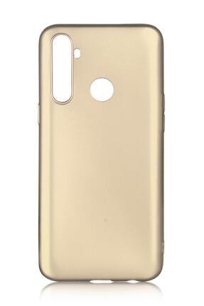 Oppo Realme 5i Uyumlu Kılıf Premier Renkli Esnek Silikon Gold