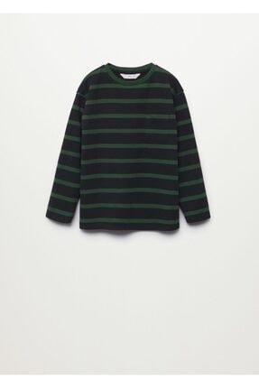 MANGO Kids Çizgili Uzun Kollu Tişört