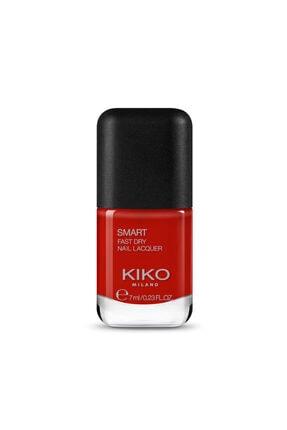 KIKO Çabuk Kuruyan Oje - Smart Fast Dry Nail Lacquer 64 Deep Red