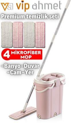 VİP AHMET Premium Mop Temizlik Seti + 4'lü Yedek Bez Hediyeli Vp-500-10