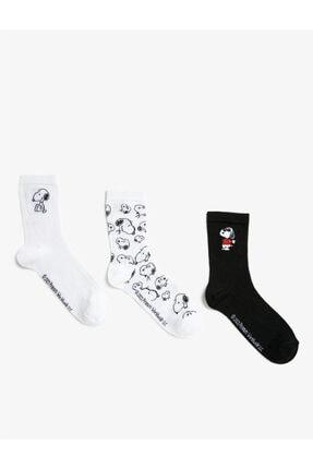 Koton Snoopy Lisansli Baskili Çorap Seti