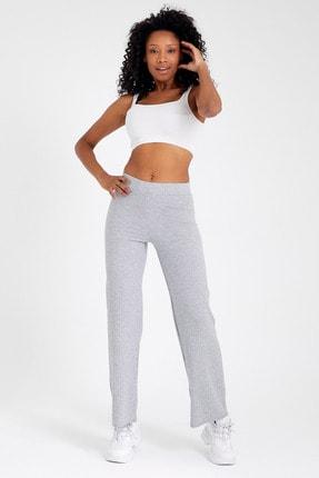 AllVision Kadın Açık Gri Fitilli Kaşkose Pantolon