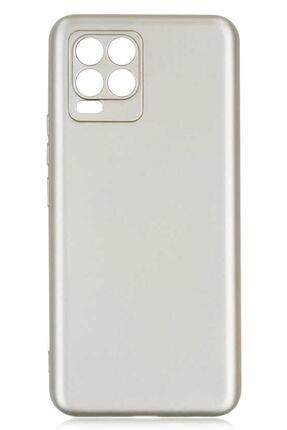 Oppo Realme 8 Pro Uyumlu Kılıf Premier Renkli Esnek Silikon Gold