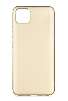 Oppo Realme C11 Uyumlu Kılıf Premier Renkli Esnek Silikon Gold