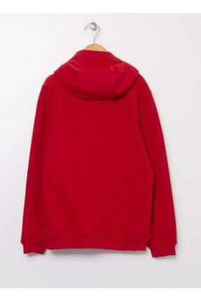 LİMON COMPANY Limon Kırmızı Kapüşonlu Erkek Çocuk Baskılı Sweatshirt