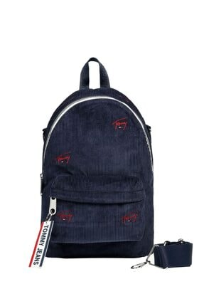 Tommy Hilfiger Kadın Lacivert Tjw Logo Tape Mını Backpack Cord