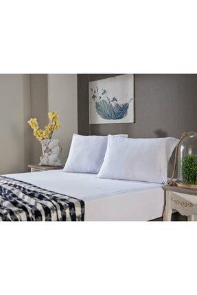 Doqu Home Penye Çarşaf Takımı Tek King Size - Beyaz
