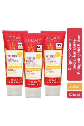 Urban Care Hibiscus &Shea Butter Saç Bakım Şampuanı x3'lü Avantajlı Set