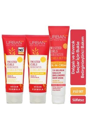 Urban Care Hibiscus &Shea Butter Şampuan & Krem & Durulanmayan Bakım Kremi 3'lü Set