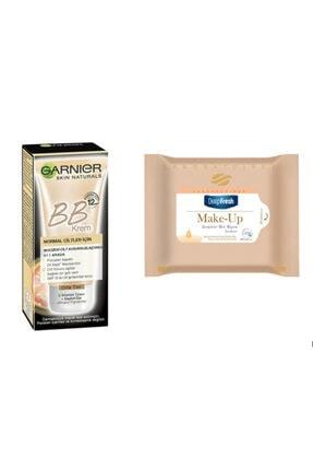 Garnier Bb Krem Mucizevi Cilt Kusursuzlaştırıcı Orta Ton 18ml & Deep Fresh Makyaj Temizleme Mendili