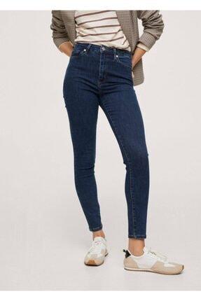 MANGO Woman Kadın Koyu Mavi Yüksek Bel Skinny Jean Pantolon